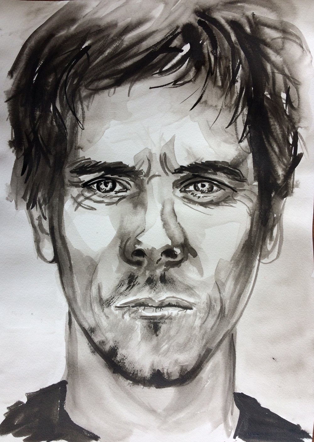 Kevin. Indian Ink on watercolor paper, (230g/m2), A3 (42x29,7 cm). Available.