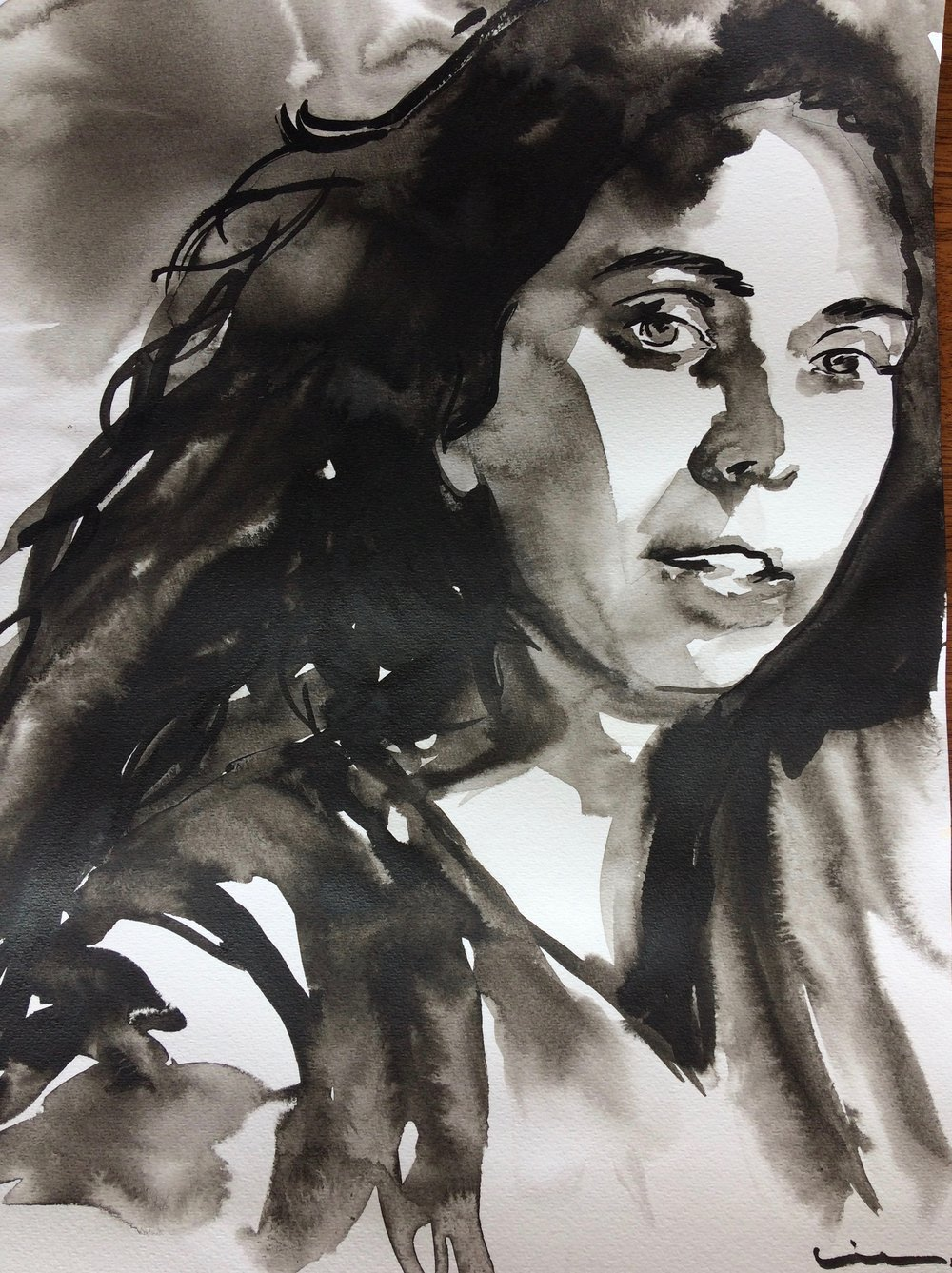 Gaga. Indian Ink on watercolor paper, (230g/m2), A3 (42x29,7 cm). Available.