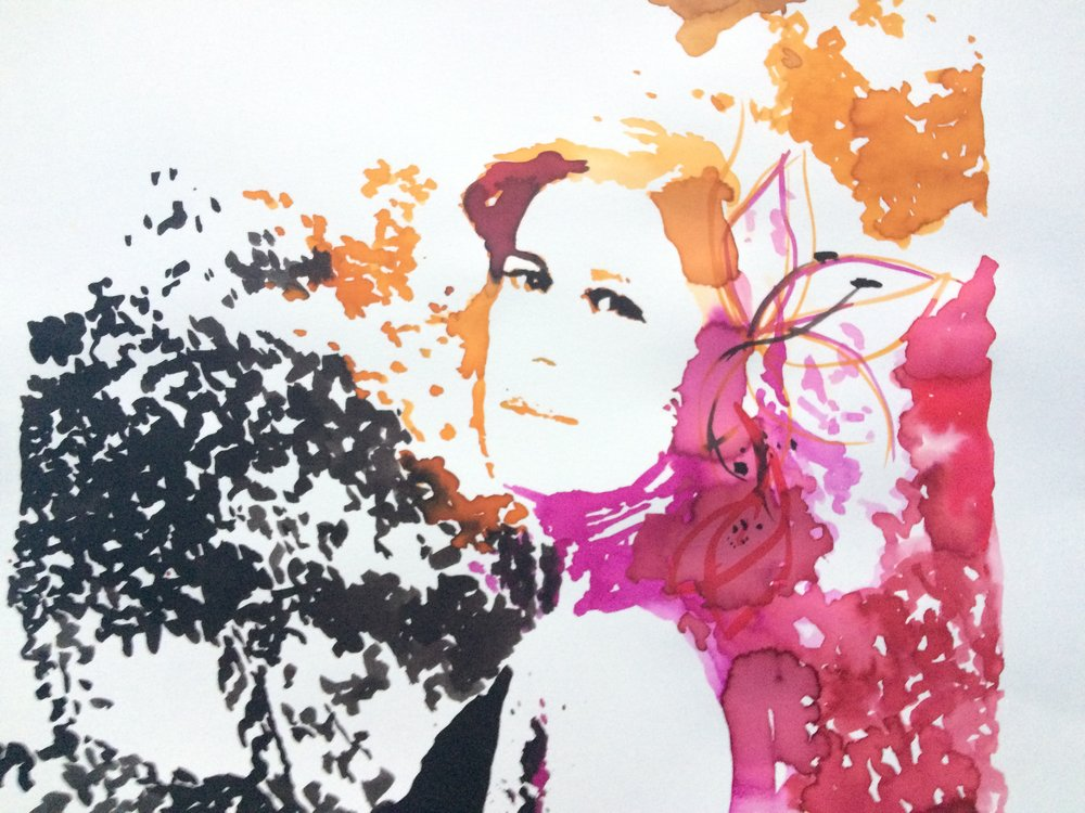 Lúcia. Watercolor and ink on Canson Illustration Paper (250g/m2), A3 (42x29,7 cm). Private Collection.  (Unavailable)