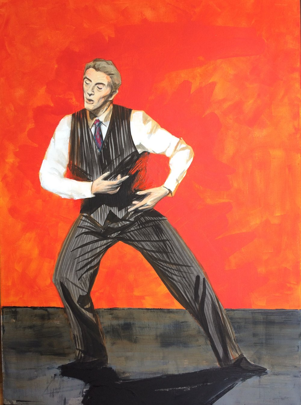 Lutz, Male Dancer - on Pina. (Lutz Förster.) Acrylic on canvas, 70x50 cm. Available.