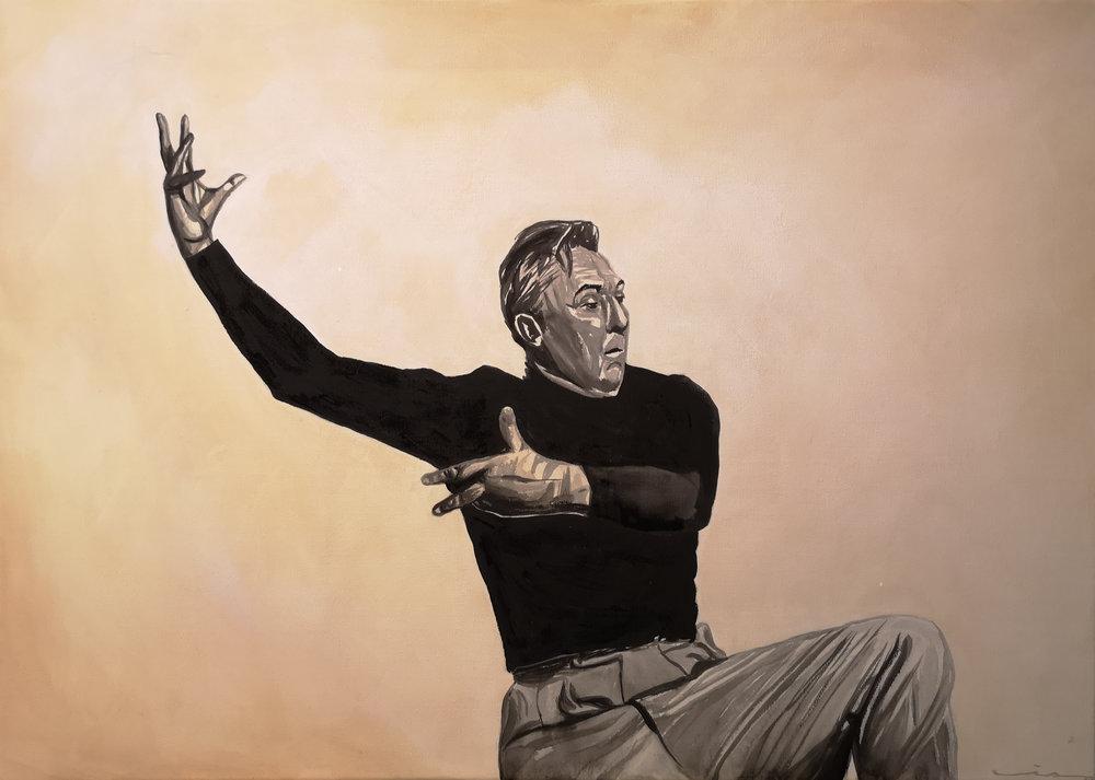 Communicating Tati - on Pina. Acrylic on canvas, 70x50 cm. Available.