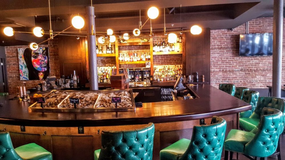 The spacious and welcoming main bar at the Barrington Steakhouse.