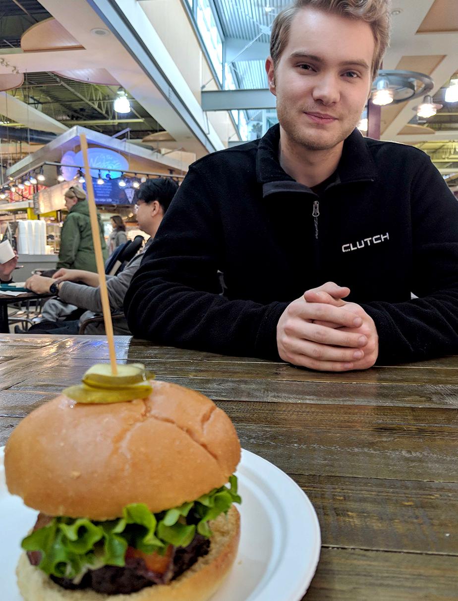 Alex and the Smokin' Wagyu Burger