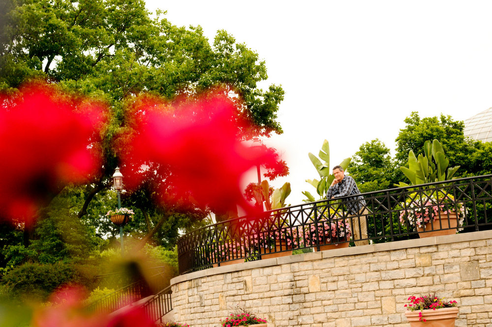 Overlooking the West Terrace in Columbus OH, wedding officiant Damian King reflects on outdoor ceremonies