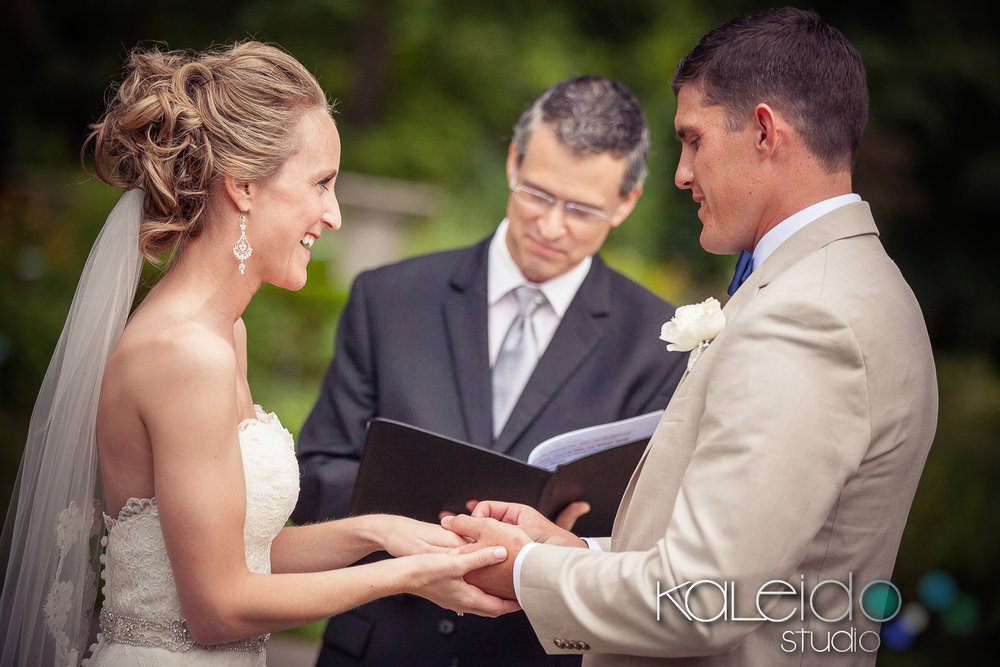 Wedding officiant, Damian King, Columbus OH at Whetstone Park