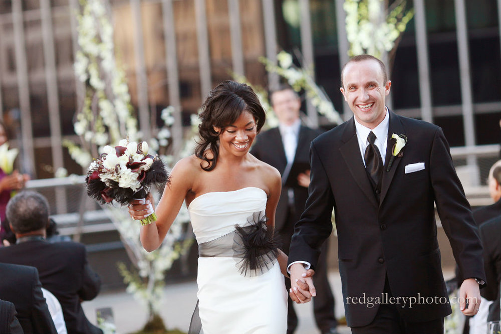 Columbus, Ohio, Wedding officiant Damian King at Renaissance Hotel with Red Gallery Photography at Fall wedding