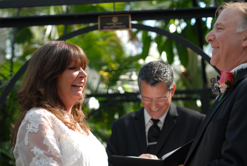 Damian King the wedding officiant in Columbus Ohio at Franklin Park Conservatory