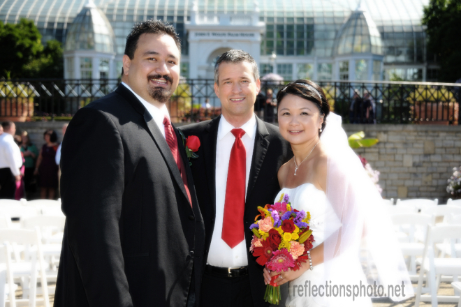 Damian King in Columbus Ohio as wedding officiant at Franklin Park Conservatory