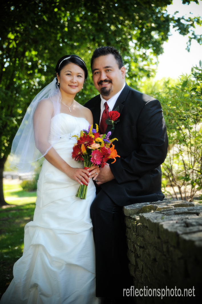 Christy and John just married at wedding venue, Franklin Park Conservatory