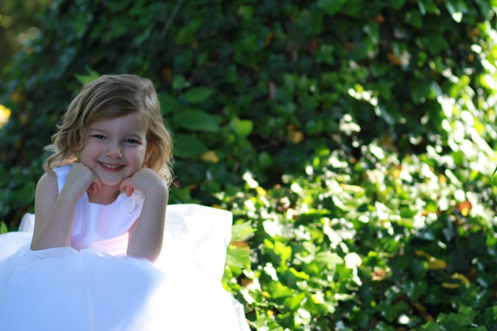 Flower girl in Columbus Ohio. Kendra and Nathan's wedding. Officiant was Damian King