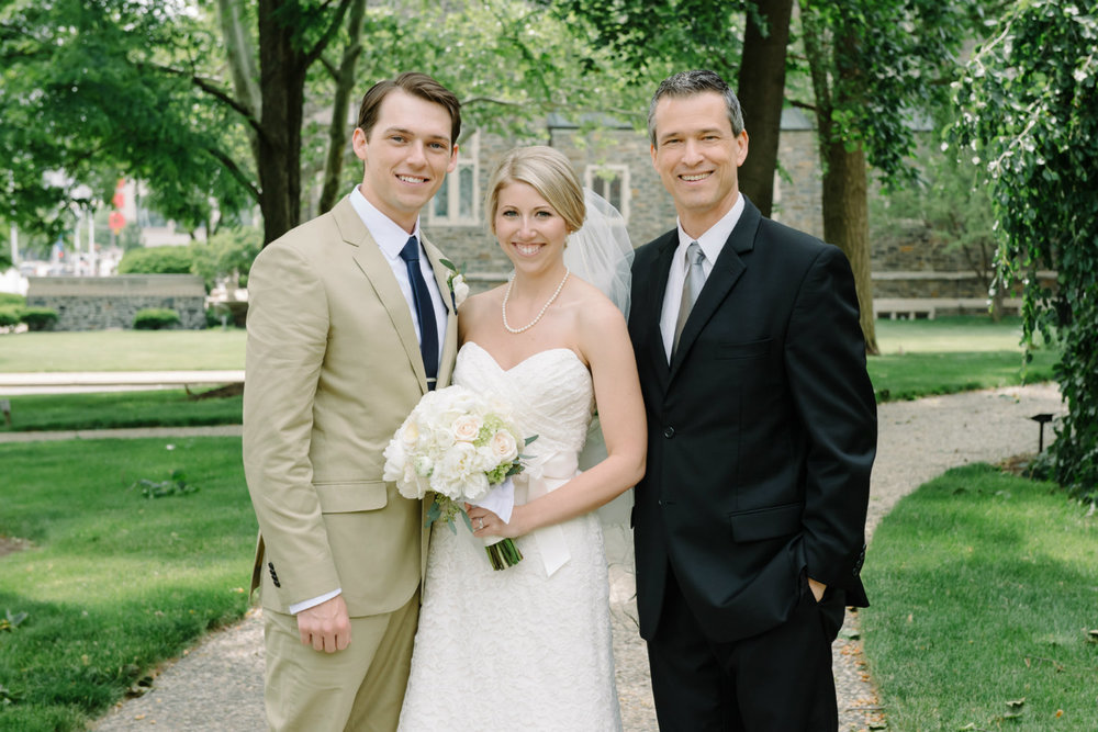 Kayln and Matt in Columbus Ohio with their wedding officiant Damian King