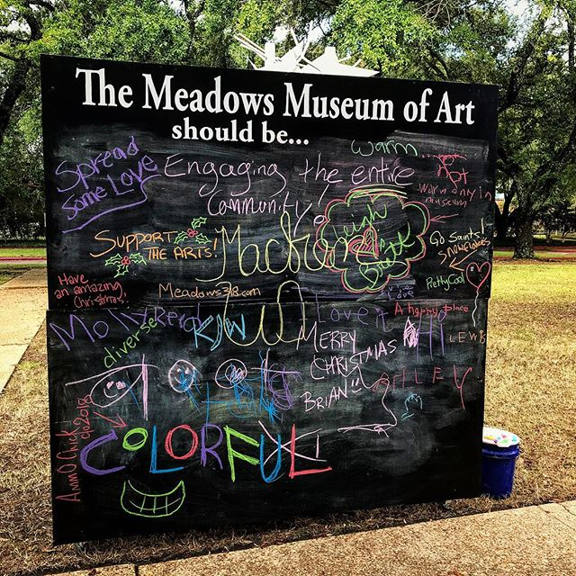 Love today's Meadows Chalkboard from the Holiday Makers Market! Some great suggestions! #Colorful #Diverse #Engaging #Warm #GoSaints #318ART