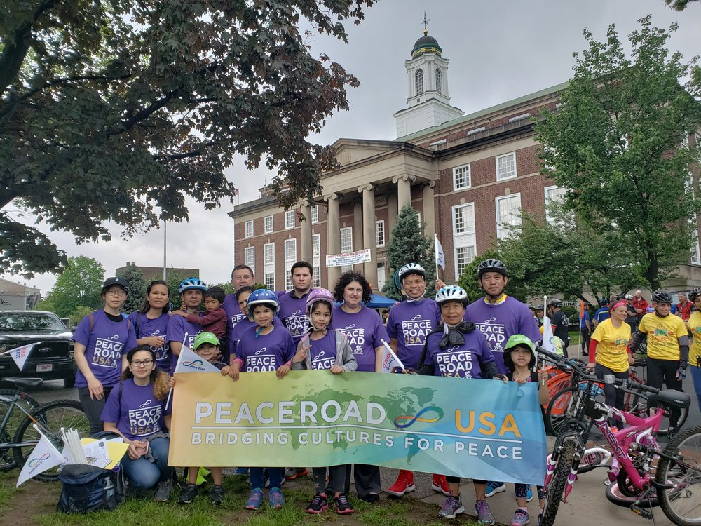 More than 20 peace road bikers join the 15-mile Tour de Elizabeth in collaboration with Groundworks Elizabeth and the City of Elizabeth