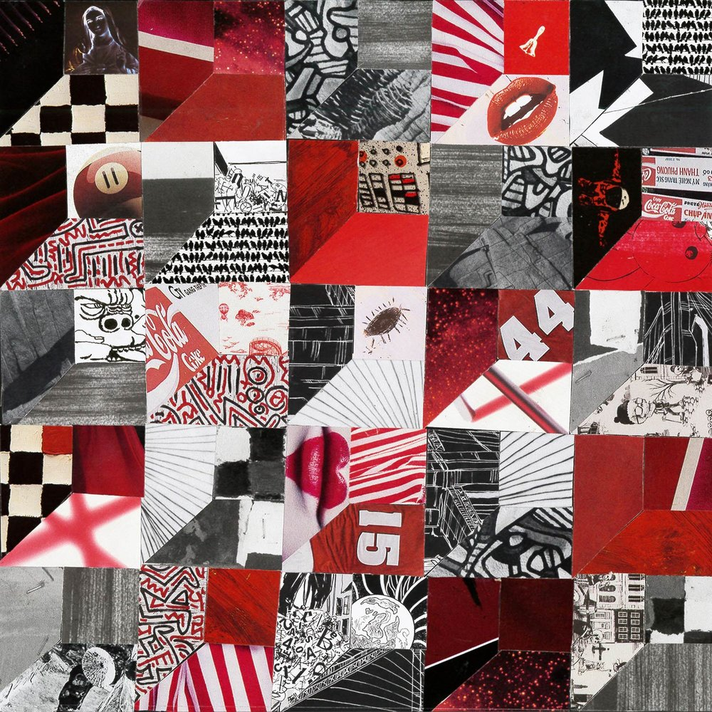 """Xitlali Castaneda '19, Fort Worth Country Day Painting & Drawing I  What Is Black and White and Red All Over  2018 Magazine pages 9"""" x 9.75"""""""