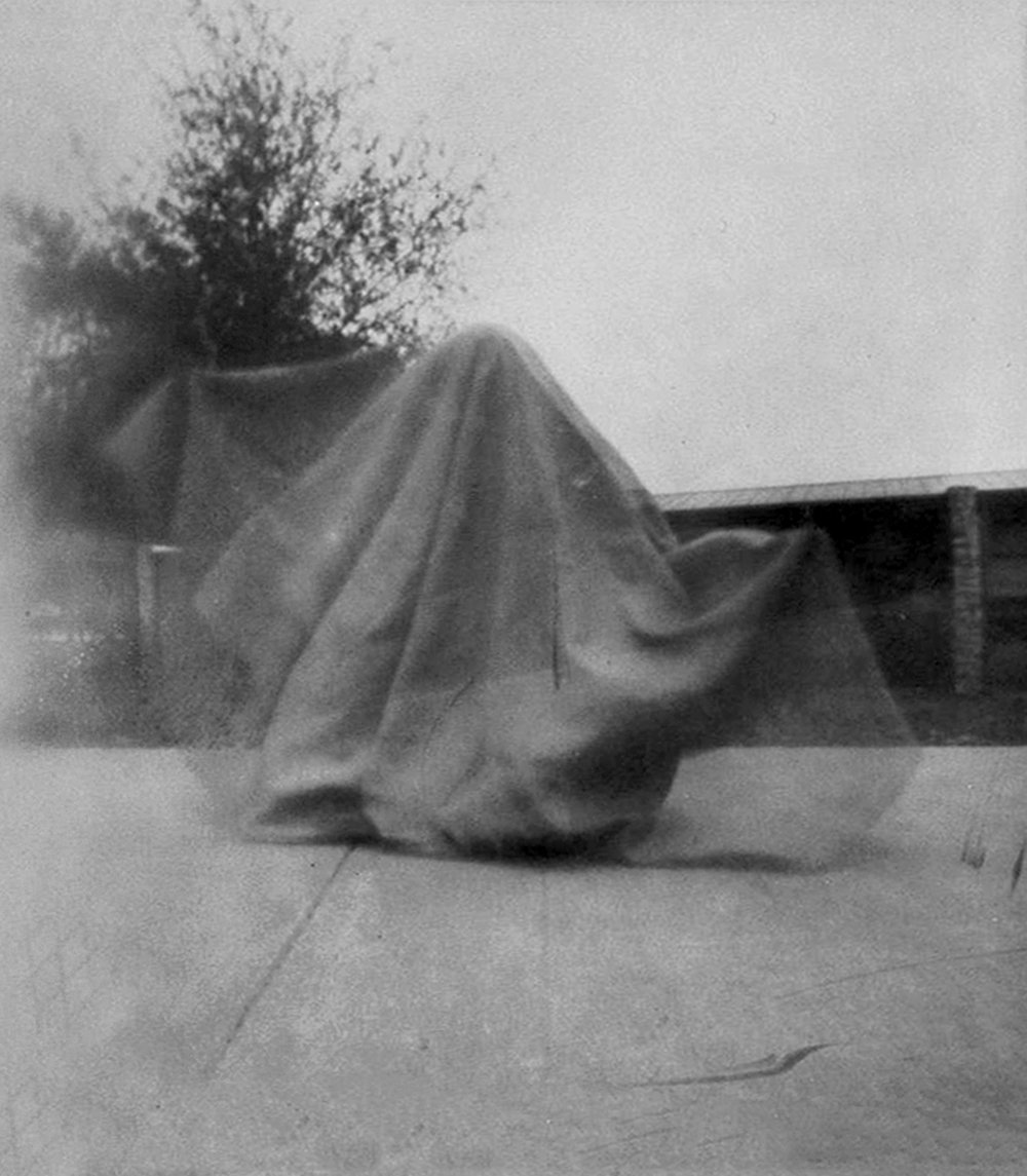 """Caroline O'Connor '19, Fort Worth Country Day Art Fundamentals  Ghost  2016 Pinhole photograph 3"""" x 2.75"""""""