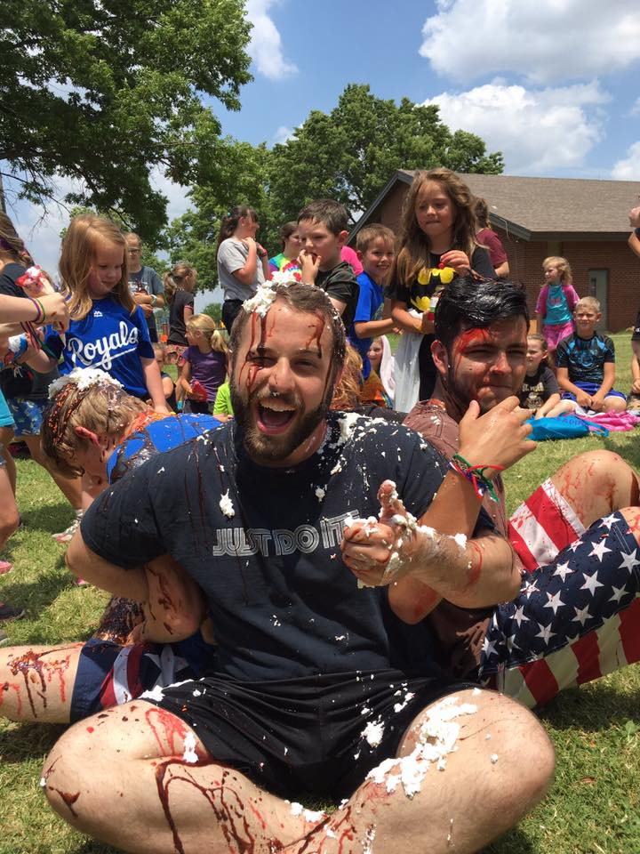 It wouldn't be Totus Tuus without a little mess and a lot of fun. We end every week with a water fight, human sundae or other activity.