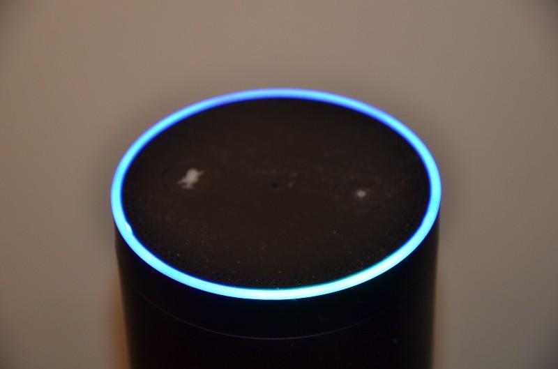 Amazon Echo image credit Ken M Earney via  Flickr .
