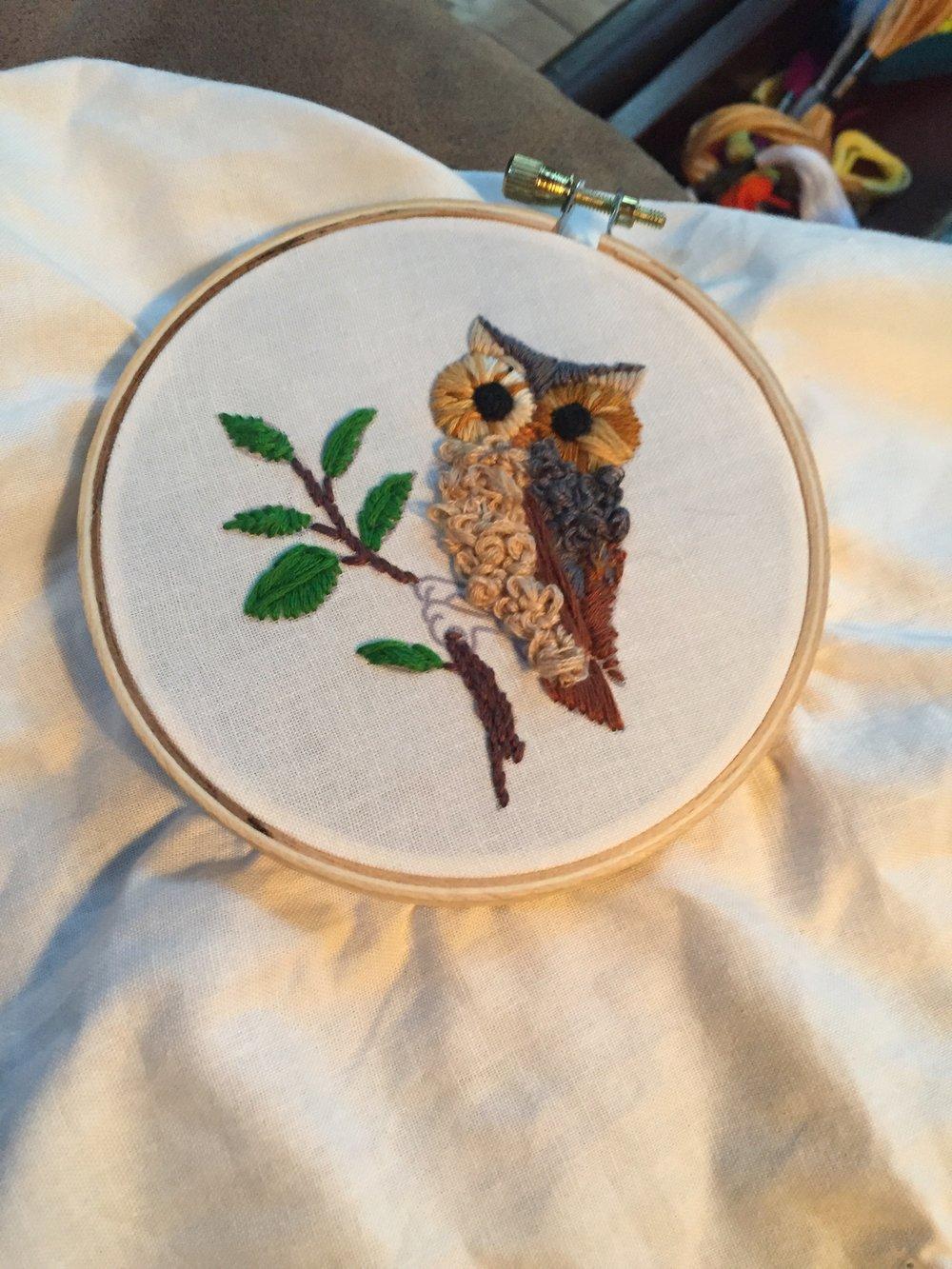 owl and thread
