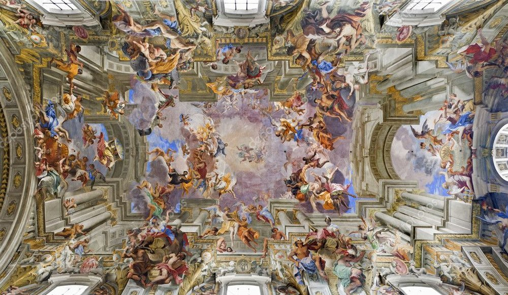 Fra Andrea Pozzo,  The Apotheosis of St Ignatius , 1685: Beam me up, Jesus!