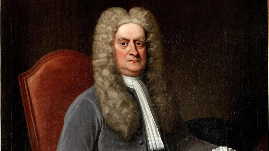 Sir Isaac Newton: superfluous pomposity