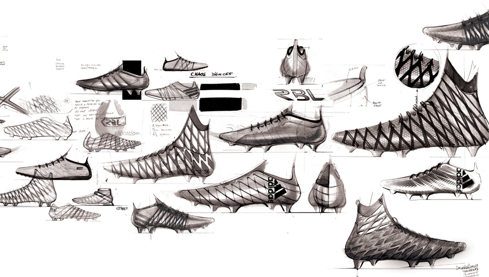 Adidas product sketches