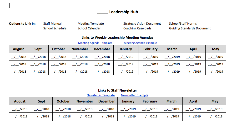 Leadership Hub Template