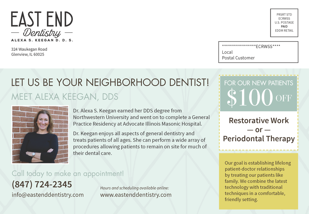 East End Dentistry News Our New Postcard Mailer Dentist In