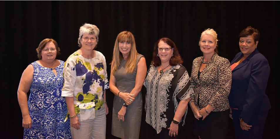 Sheila Pearcy (third from left in photo), TFE's Waste Isolation Pilot Plant (WIPP) Central Characterization Program (CCP) Records Manager, was recently elected to the Nuclear Information & Records Management Association (NIRMA) Board of Directors.