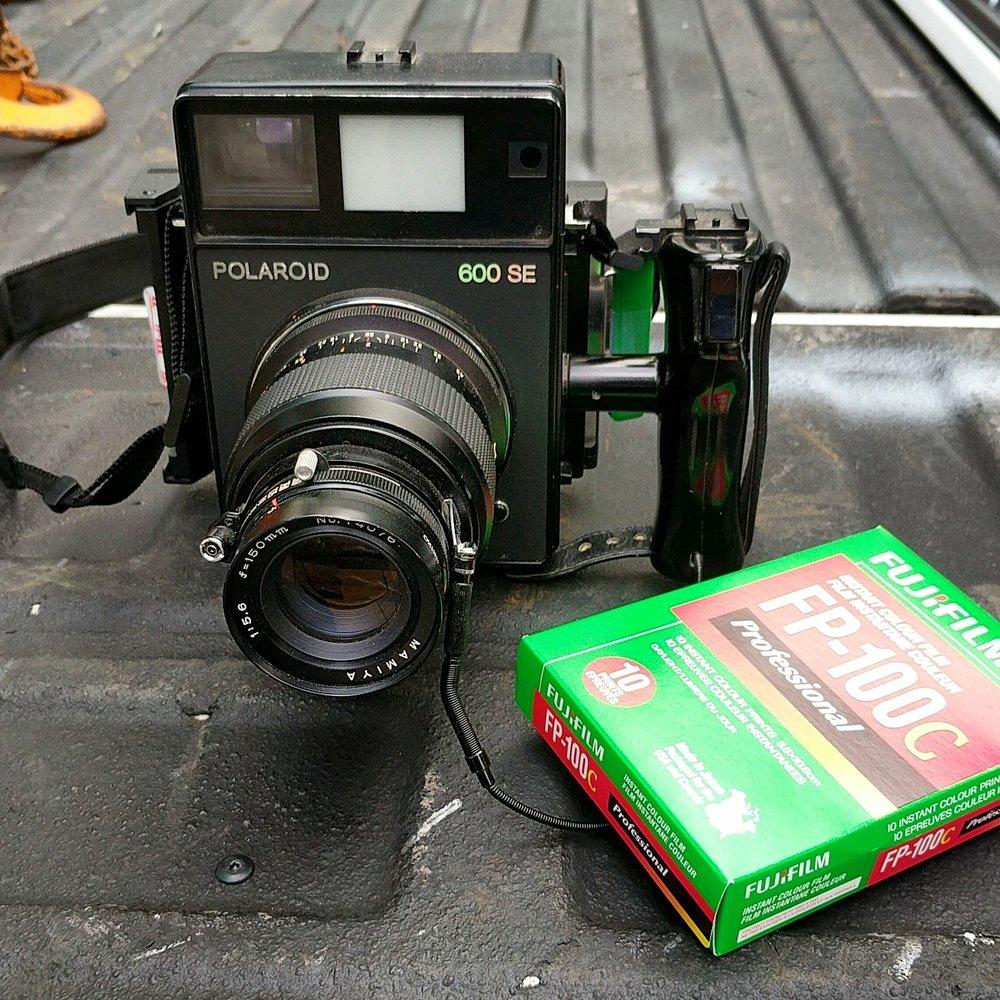 Polaroid 600SE with FP-100C