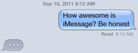 iMessage example