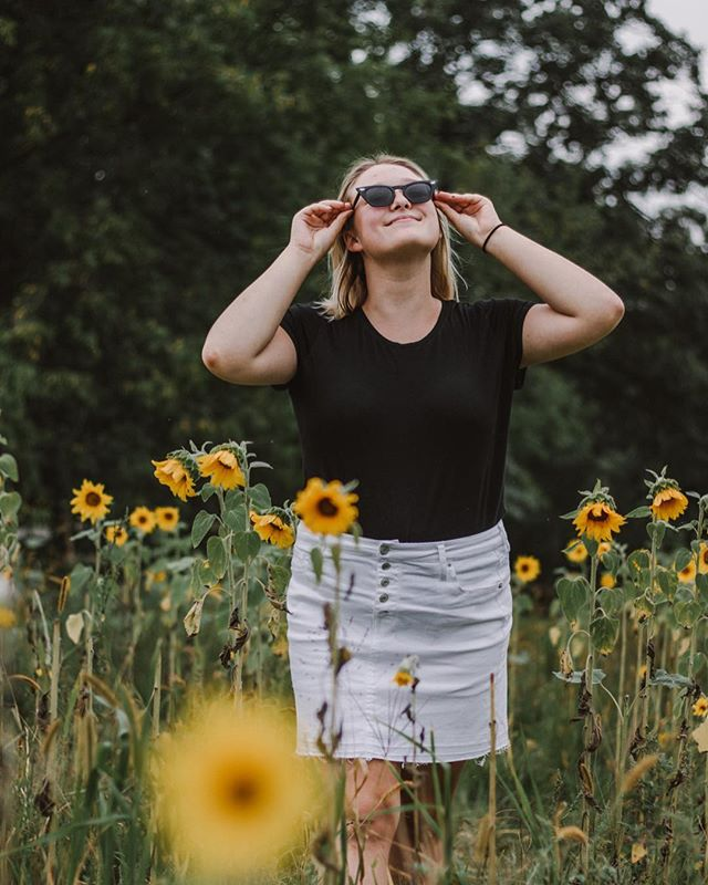 I'm that type of girl who will find a sunflower field while camping, buy an outfit (bc who would've thought to pack anything BUT sweatpants), and then continue to have a photoshoot. What level of extra are you?