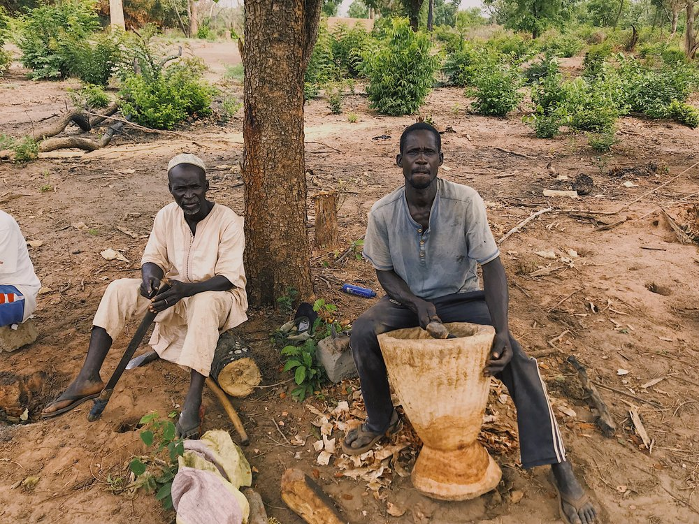 Bourama Gajigor (right) and friend (left) - Residents of Casamance, Senegal