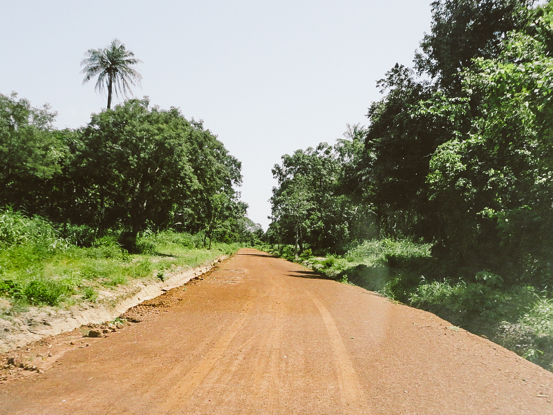 One of the completed rehabilitated roads