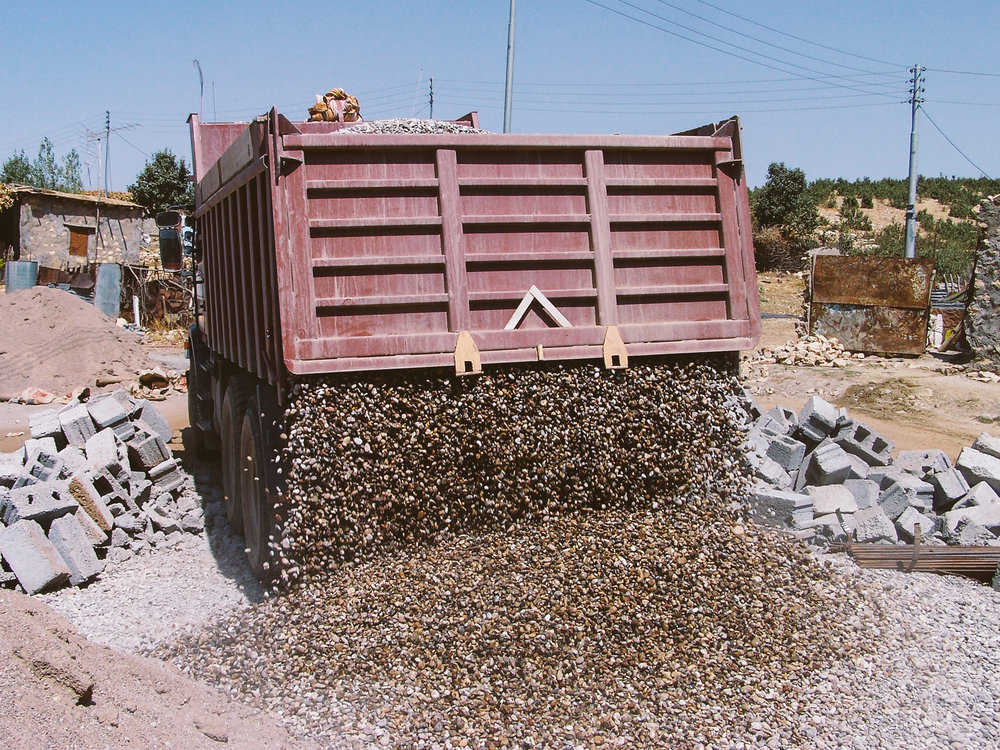 Delivery of materials for construction