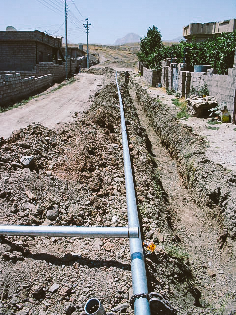 Water pipe construction