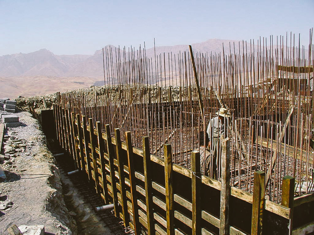 Construction of the water tank wall