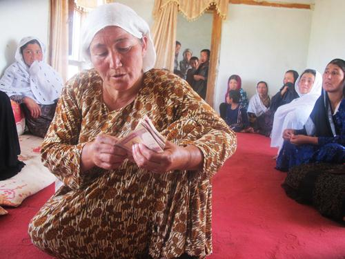 Many women were able to participate in our micro-credit program
