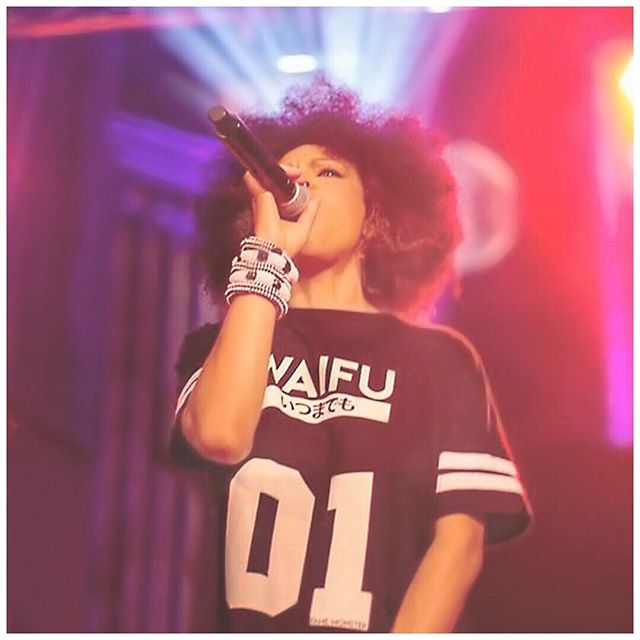Givin' it to you like a #realwaifu should! #iwannagiveyoudevotion when i #perform #live i don't hold back cause #energy is everything. #waifumaterial #performer #artist #vocalist #mc #dj #afro #asian #mix #bam #number01