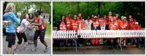 Cheering and Volunteering