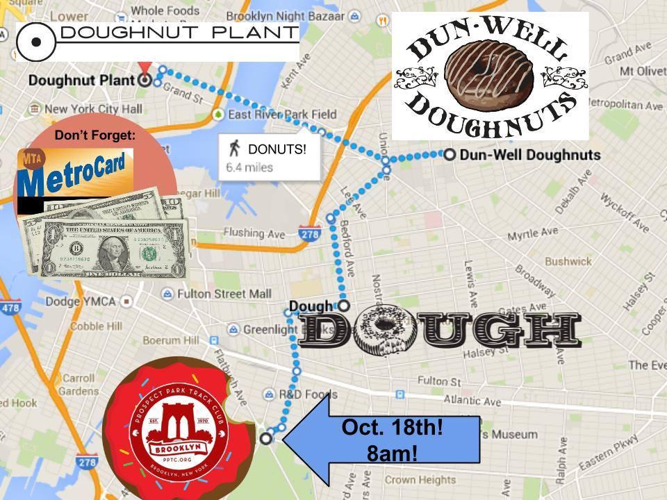 Donut Run route