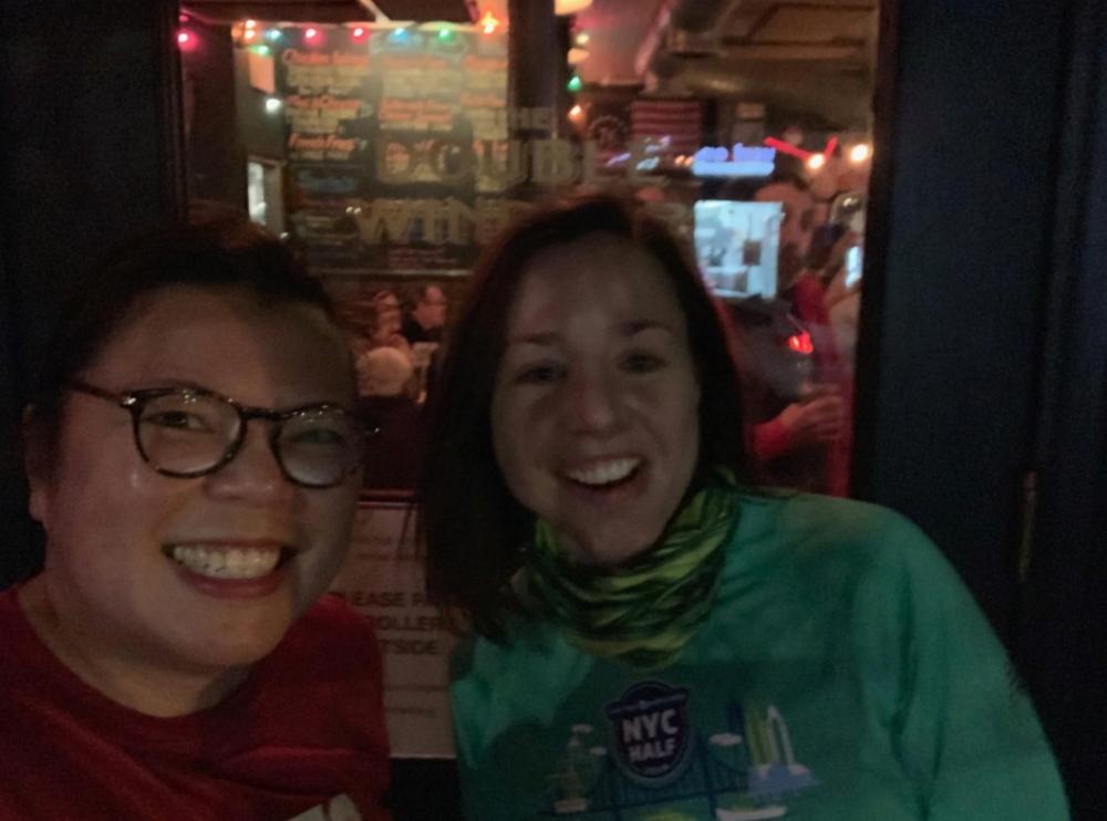 Me and Anja, post-run