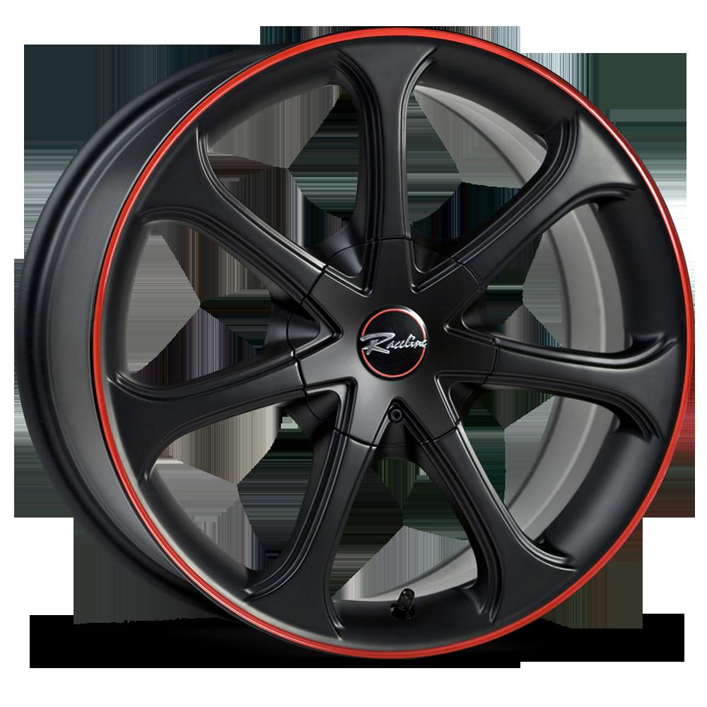 197 BLACK W/RED -