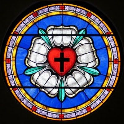 Luther rose stained glass