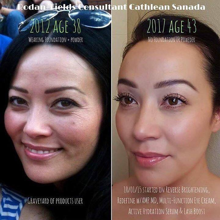 One of my favorite before and afters because it showcases my favorite product.  Active Hydration Serum.  Just look at her GLOW!!!
