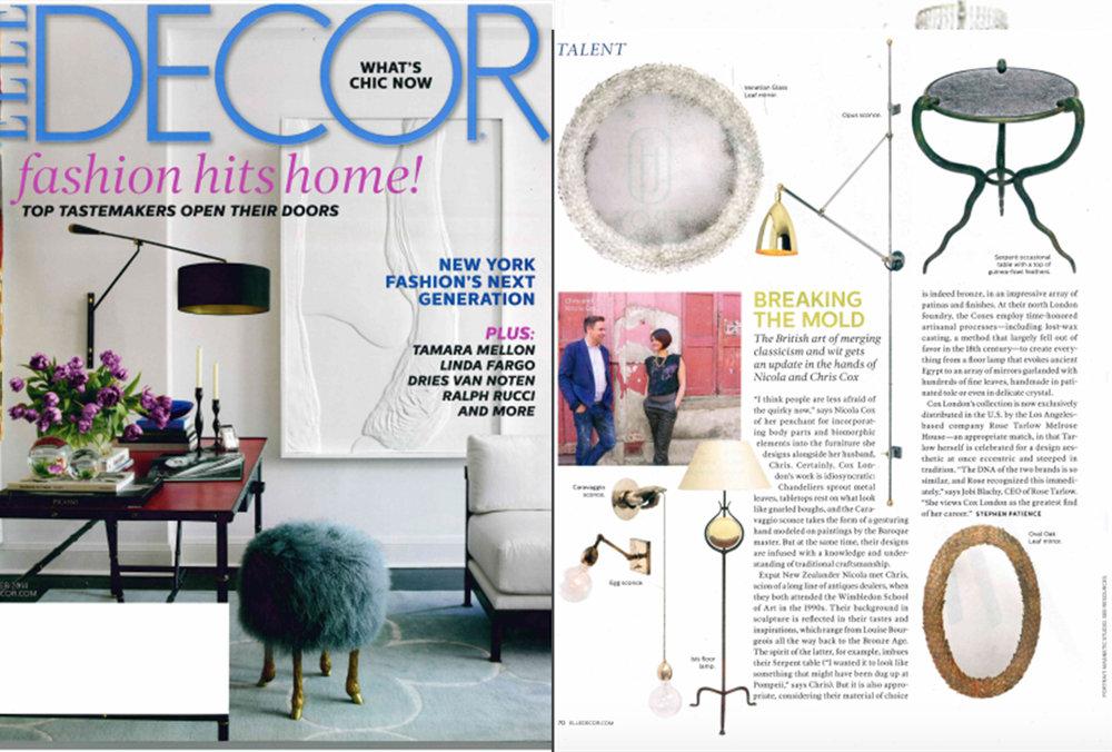 Elle Decor   October 2014