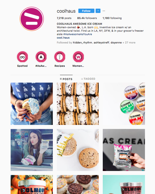 Coolhaus post H&H: 85,400 Followers -
