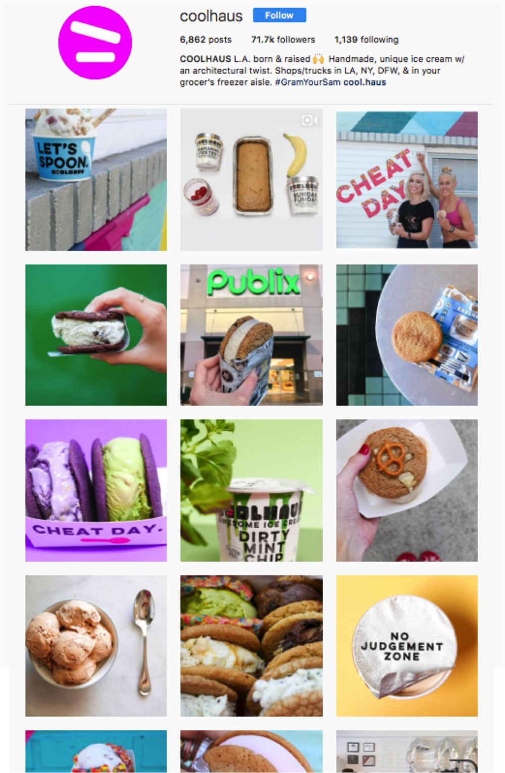 Coolhaus pre H&H: 71,700 Followers -