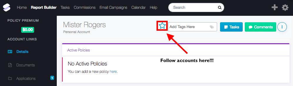 Following Accounts