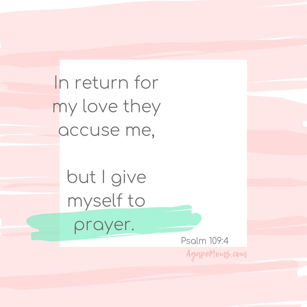 In return for my love they accuse me but I give myself to prayer Psalm 109.jpg