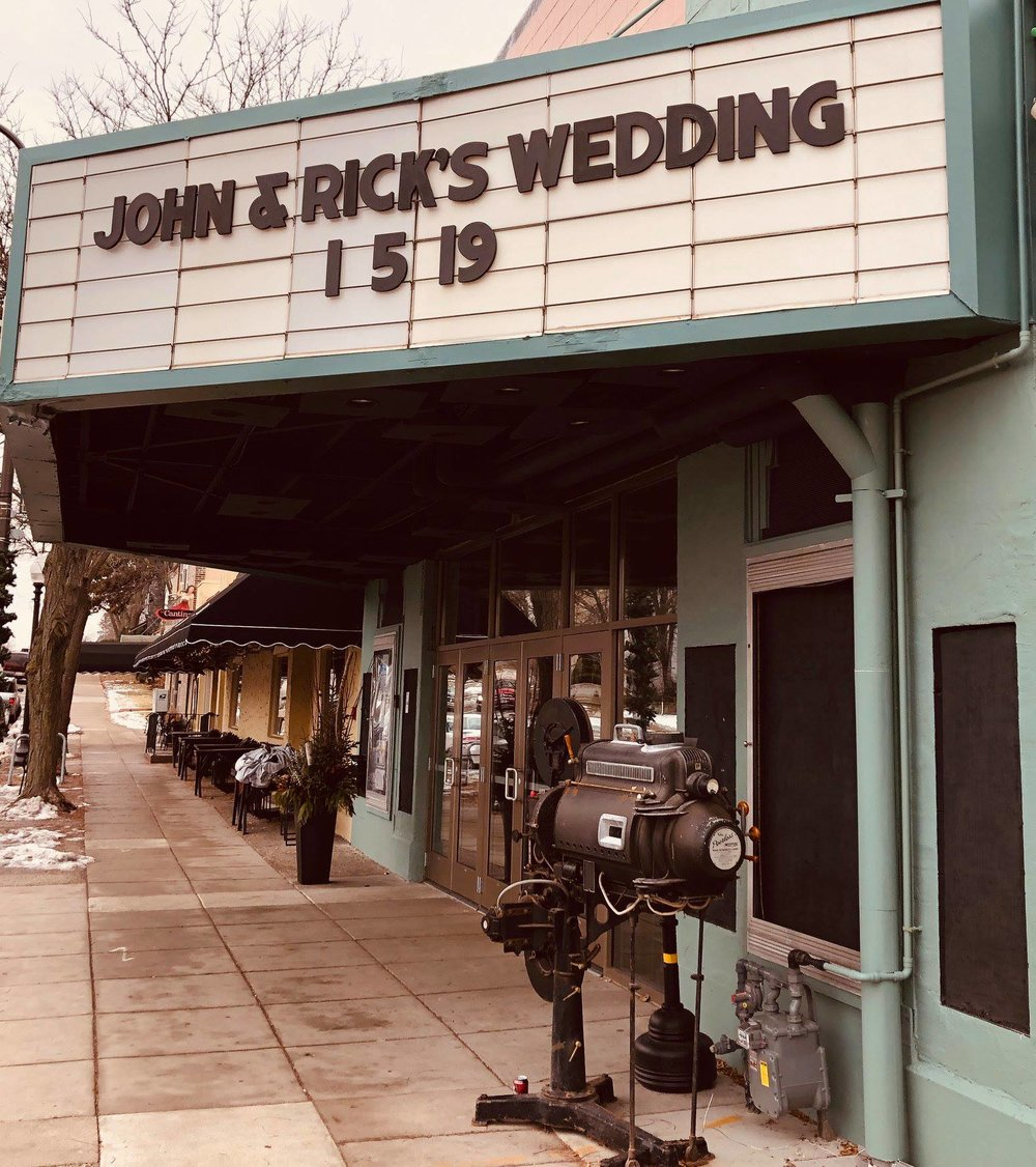 Your wedding - Featured on our Classic Movie Marquee